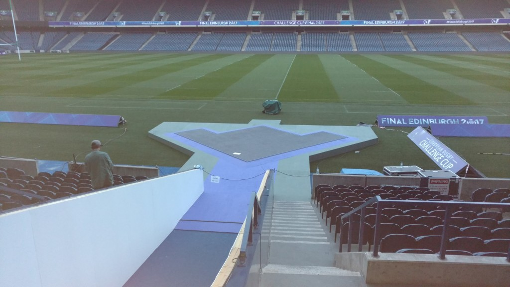 ECPR semi finals, Murrayfield 2017 LED Presentation floor in association with Scottish rugby, Lightrythm design and Progress production