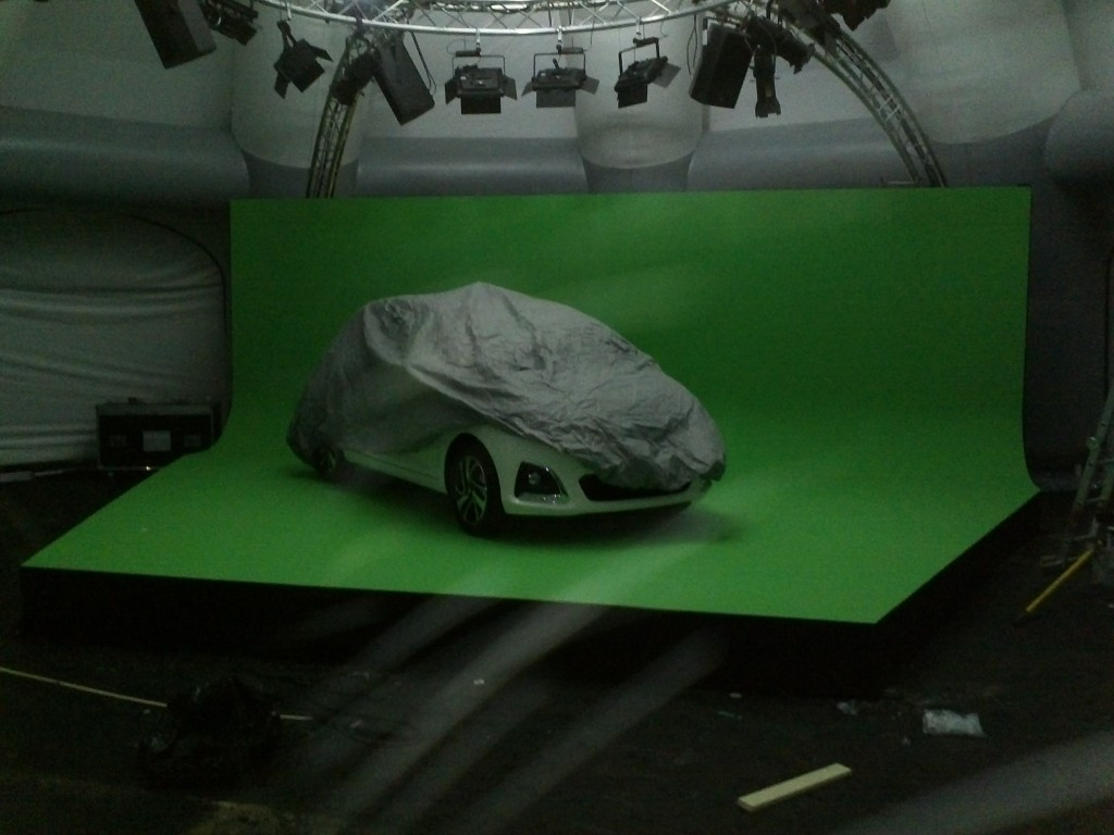 Peugeot pop up green screen in association with Little Bird and CCP